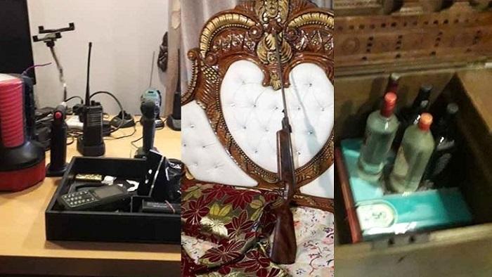 হাজী সেলিমপুত্র ইরফানের বাসায় আগ্নেয়াস্ত্র, মদ, বিয়ারসহ  ওয়াকিটকি উদ্ধার