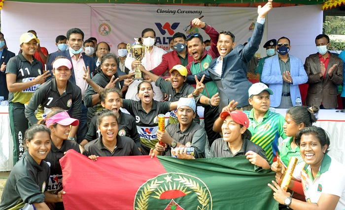 ওয়ালটন দ্বিতীয় জাতীয় মহিলা পেসাপালো প্রতিযোগিতায় বাংলাদেশ আনসার চ্যাম্পিয়ন