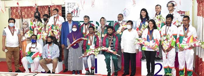 বঙ্গবন্ধু ৯ম বাংলাদেশ গেমস-২০২০,  দলগত দাবা ইভেন্টে বাংলাদেশ আনসার ও ভিডিপি স্বর্ন পদক লাভ করেছে